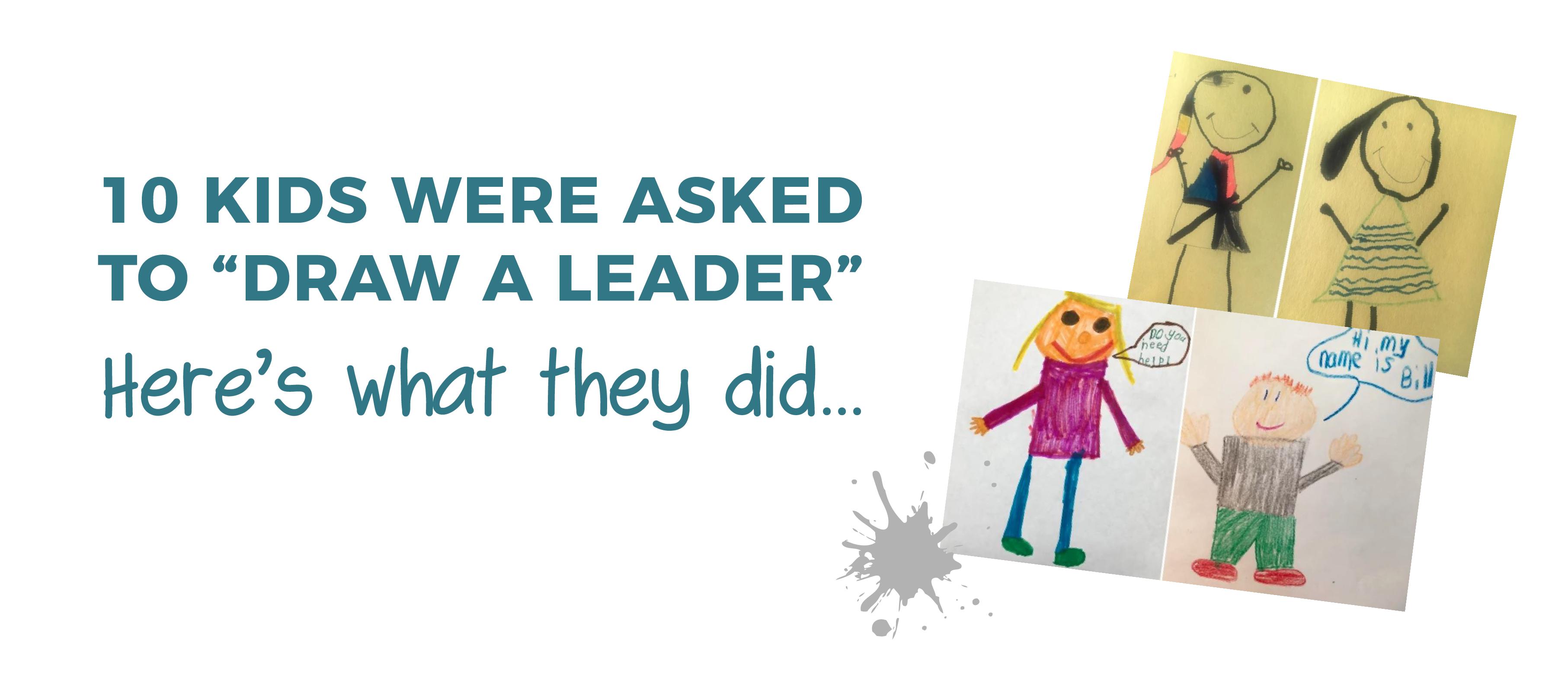 kids draw a leader